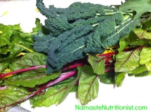 Fresh Kale and Beet Greens