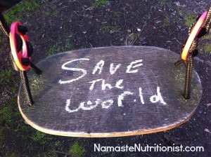 My mission: Save the world with good food and love.