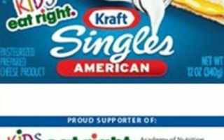 "A package of Kraft Singles with the ""Kids Eat Right"" label. (Kraft Foods)"