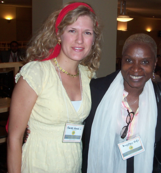 Frances Arnold with Angelique Kidjo at United Nations Summit